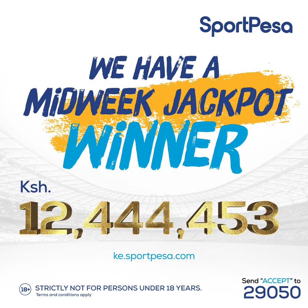 #Sportpesa is back. SportPesa midweek jackpot winner